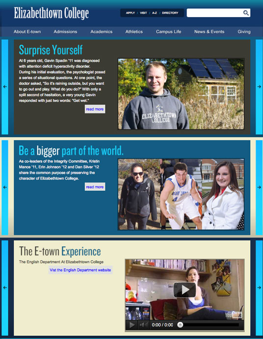 Etown Surprise Yourself page