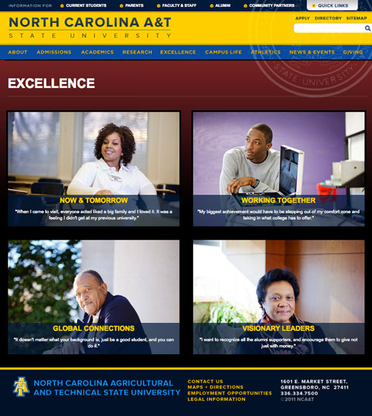 NC A&T Excellence Page
