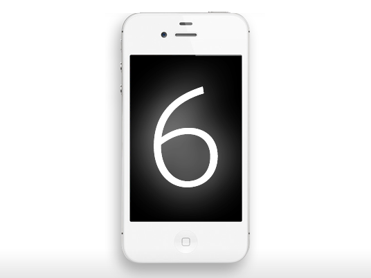 Iphone with the number six, symbolic of six reasons why mobile is important to colleges, universities, and schools.